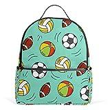 WowPrint Sac à dos pour le sport, le football, le rugby, le livre, l'école, le sac à dos, la randonnée, le voyage, les sacs décontractés