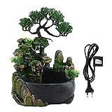 Mini Cascada Fuente de Escritorio Fuente Interior Mesa Cascada Zen Meditación Cascada Decoración de Oficina en casa Regalo UE Enchufe 110-240v