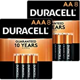 Duracell - CopperTop AA + AAA Alkaline Batteries - long lasting, all-purpose Double A & Triple A battery - 8 Count