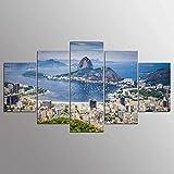 YDWD Moderne Leinwand Malerei 5 Stück Leinwand Bilder