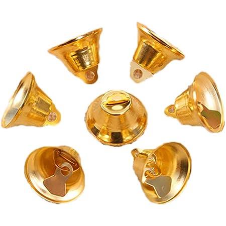 Amosfun 24 st/ücke Jingle Bells Craft Glocken Mini small Bells Bunte Glocken Weihnachten DIY Craft mischfarbe 20mm