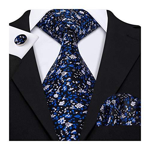 Without Corbatas Lazos para Hombres Lazos Florales for los Hombres Camisas de Seda Verde del Lazo de los Hombres del pañuelo Gemelos Conjunto de 15 Colores Cuello Diseño Lazo de la Moda (Color : 6)
