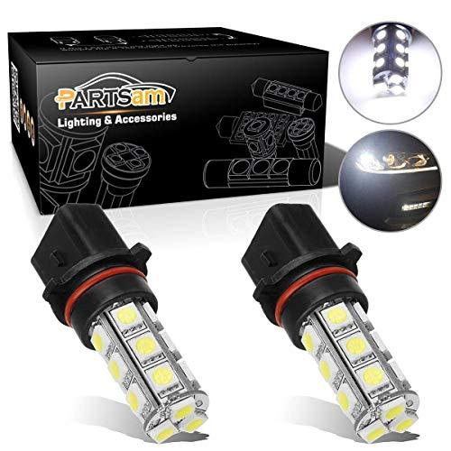 Partsam 2X P13W LED Fog Light Bulbs 12277 Daytime Running Light Driving DRL LED Lamp Xenon White 6000K Super Bright 18-5050-SMD 12V