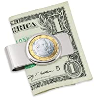Coin Money Clip - Austrian One Euro | Brass Moneyclip Layered in Silver-Tone Rhodium | Holds Currency, Credit Cards, Cash | Genuine Coin | Includes a Certificate of Authenticity 商品カテゴリー: マネークリップ [並行輸入品]