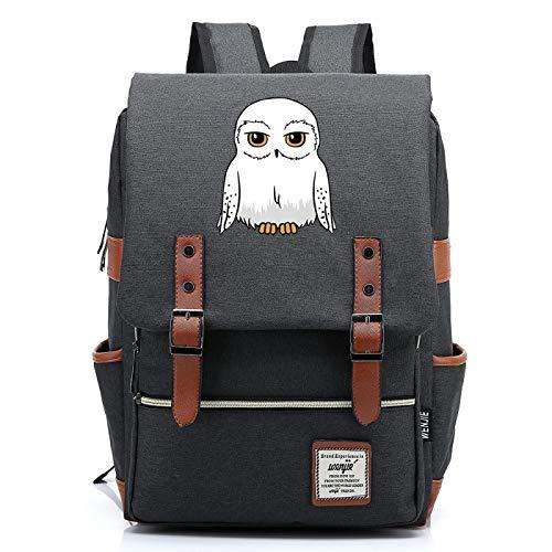 MMZ Mochila de bho para Adolescente Hedwig Mochila Escolar de Lona Unisex Mochila de Viaje de Ocio Universitario 43X29X13.5CM (Style6)