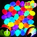 JOYIN 35 Easter Glow Eggs with Mini Glow Sticks (70PCs Total) for Kids Glow-in-The-Dark Easter Basket Stuffers Fillers Gift, Easter Eggs Hunt Game Party Favors Decorations Supplies, Classroom Prizes.