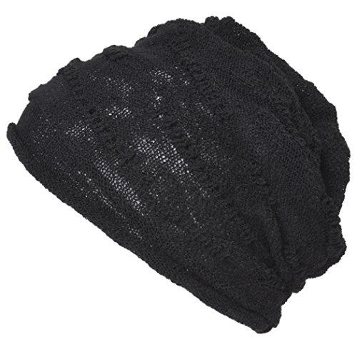 Casualbox Hommes Coton Bonnet Chapeau Lumière Refroidissement Été Noir