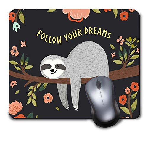 Computer Gaming Mouse Pad Mat for Office and Home Laptop Desktop Mousepad(9.6 x 8 inch) - Funny Lazy Sloth