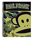 Paul Frank Camo Oficial Cuaderno Oficial 120 Hojas Tapas Dur