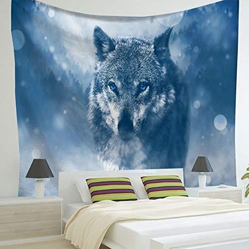Tapiz Lobo/Perro/Gato Y Otros Animal Mundo Fondo Tela Fondo Decoración De Pared Tela Decoración Del Hogar Decoración Muralparty