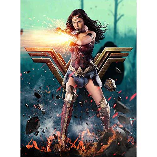 Potato smile Puzzle Jigsaw Film Wonder Woman Get On Attack Adulto Regalo 300/500/1000/1500 Piezas(Size:1000 Pieces)