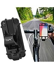 TOPK 自転車ホルダー アクセサリーホルダー スマホホルダー 自転車/バイク用スタンド シリコン製 装着・脱着簡単 GPSナビ 脱落防止 4-6インチの携帯電話に対応 携帯ホルダー iPhone/Android固定用マウントキット バイクスタンド