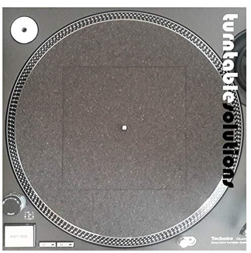 Zwei Stück Universal Schwarz Kork Gummi Matte Plattenspieler V.4 Plattentellerauflage