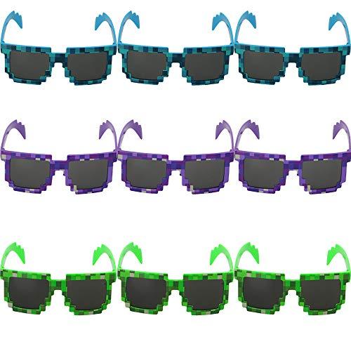 Gafas De Sol De Mosaico, Gafas De Sol A Cuadros De Mosaico, Gafas De Uso como Un Mosaico. Adecuado para Niños y Adultos para Salir (Azul, Verde, Púrpura)