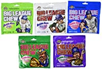 Big League Chew Bubble Gum Variety Pack 5 Flavors (Pack of 10) [並行輸入品]