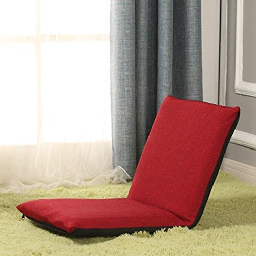 Sofa La Couleur Unie Peut être pliée Paresseux (Couleur : Red, Taille : 80 * 40cm)