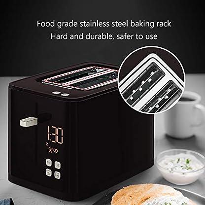 Kitchen-supplies-Mini-Toaster-mit-Wiedererwaermungsfunktion-zum-Abtauen-und-abnehmbaren-Kruemelschalen-Toaster–7-Toasteinstellungen-LCD-Bildschirm-Edelstahl-Toaster-mit-extra-breitem-Schlitz