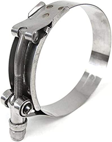 304 Stainless Steel Band Carbon Steel Bolt and Nut Kuriyama TBC-SSC025 Heavy Duty T-Bolt Clamp 29//32 to 1