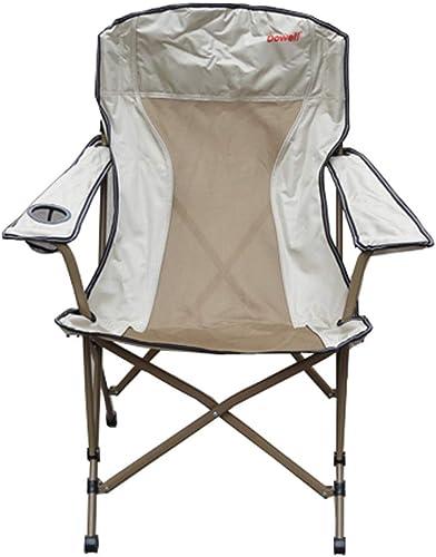 DLT Accoudoir rembourré rembourré avec Chaise de Camping en Tissu Nylon résistant, Porte-gobelets, Chaise de Sport de Camping Pliable en quadrilatère, for la randonnée en Plein air