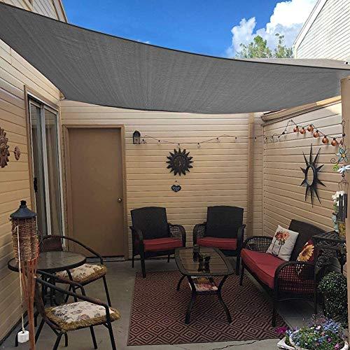 Vierkant waterdicht zonnescherm Zeilluifel Luifel Shelter, 95% UV-blokkering UV- en waterbestendig, Outdoor Patio Garden Carport