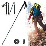 Palos Senderismo Plegables,35-125cm Ultraligero Antishock Bastones Trekking,Alumini Ajustables Bastones Trail Running,para Camping Montañismo Caminar Mochilero Bastones de Trekk(Size:1 pc,Color:negro)