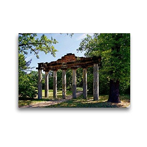 Premium Textil-Leinwand 45 x 30 cm Quer-Format Römische Ruine 7 Säulen in Dessau | Wandbild, HD-Bild auf Keilrahmen, Fertigbild auf hochwertigem Vlies, Leinwanddruck von Beate Bussenius