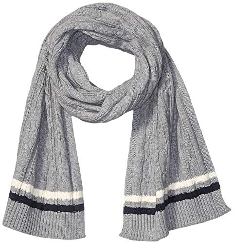 Amazon Brand - Goodthreads Men's Soft Cotton Cable Knit Scarf, Heather Grey, One Size