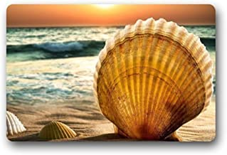 Door Mat Beautiful Sunset Sea Beach Seashell Doormat Rug/Front Door/Room Mats Floor Mat 23.6 * 15.7 inch
