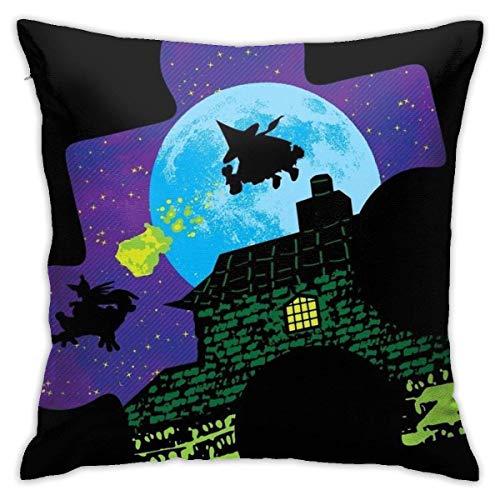 WH-CLA Pillow Cover Dynamic Duo Decorations Funda De Almohada para Silla 45X45Cm Funda De Almohada para Oficina Animación para El Hogar Dormitorio Interior Sofá Funda De Cojín Cuadrada C