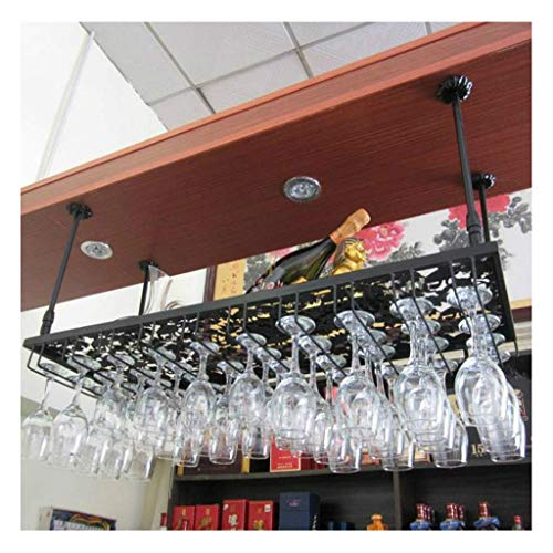 XJZKA Rejilla para Copas de Vino, Rejilla para Copas de Vino Colgante Creativa, Rejilla para Copas, Rejilla para Copas de Vino al revés, Percha, Rejilla para Vino (tamaño: 70 * 22 cm)