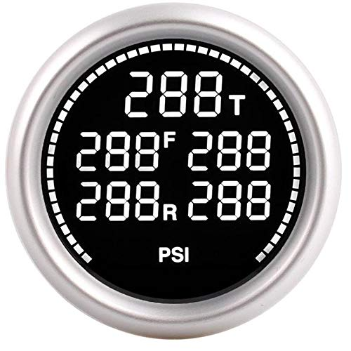 No-branded Odometer Spur Bar PSI Luftfederung Manometer Air Ride Spur 1 / 8NPT elektrische Sensoren 2Inch 52mm Kit Turbo-Boost-Messgerät ZHQHYQHHX