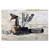 Rompecabezas de 1000 Piezas,Rompecabezas de imágenes,Vintage Barber Shop Hair Salon Tools Set Gran Regalo Imagen,Juguetes Puzzle for Adultos niños Interesante Juego Juguete Decoración para El Hogar