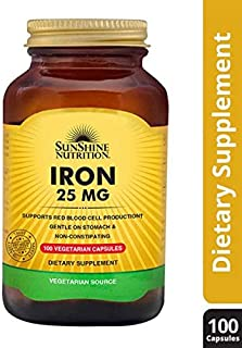 SUNSHINE NUTRITION Iron 25 Mg Capsules 100'S
