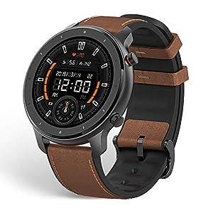 Amazfit Smartwatch GTR 47mm 1,39 Zoll Touch Control Farbdisplay Sportuhr Fitness Armbanduhr 5 ATM wasserdicht Stoppuhr mit GPS, Schrittzähler, Schlafmonitor, 12 Sportmodi für Damen Herren Sport