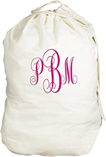GiftsForYouNow Script Monogrammed Laundry Bag, 19