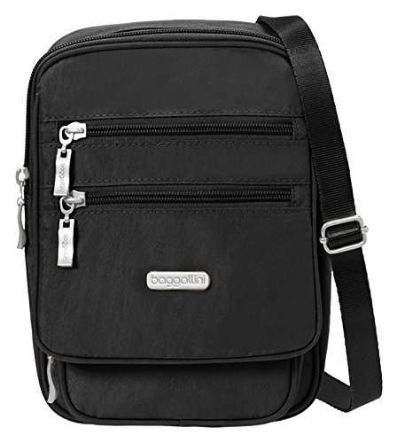 Baggallini Journey Crossbody Travel Bag, Black/Sand, One Size