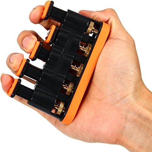Finger Exerciser Für Hand, Finger & Handgelenk Krafttraining Übungen für Gitarre, Klavier, Golf, Tennis & Physiotherapie (Gelb)