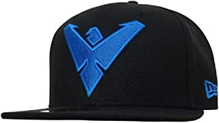 Nightwing Symbol New Era 9Fifty Black Scarlet Snapback Cap Hat