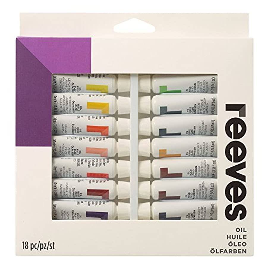 Reeves Oil Color Paint 10ml Tubes, Set of 18,