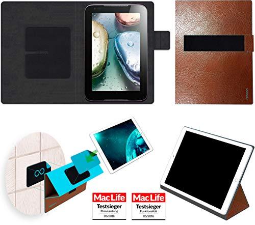 Hülle für Lenovo IdeaTab A1000 Tasche Cover Case Bumper | in Braun Leder | Testsieger