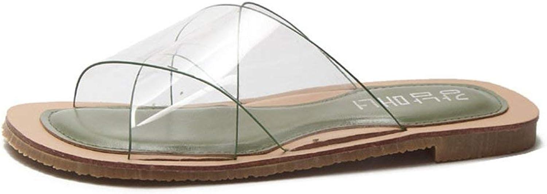 Elsa Wilcox Women Open Toe Clear Jelly Flat Slide Sandal Slippers Summer Flip Flop