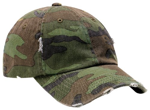 District Threads - Distressed Cap. DT600 - Camo