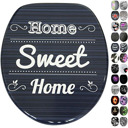 WC Sitz, viele schöne schwarze WC Sitze zur Auswahl, hochwertige und stabile Qualität aus Holz (Home Sweet Home)