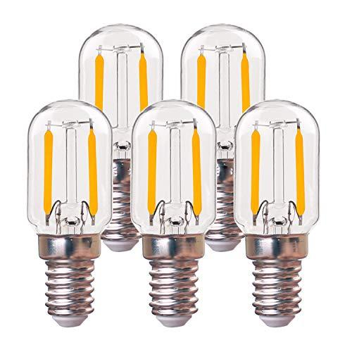 Century Light Niederspannung AC/DC 12-24V T22 E14 1W LED-Glühbirne 2700k Warmweiß 10 Watt Äquivalent Kandelaber LED-Lampe Radio Style Nicht dimmbar - 5 tlg