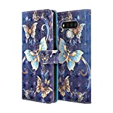 for LG Stylo 6 Wallet Case, Cute Butterfly Premium PU Leather Flip Folio Protective Case Cover with Card Holder and Stand for LG Stylo 6 2020 Release (Butterfly-5)