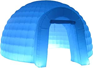 SAYOK 16.4ft Inflatable Igloo Dome Tent with Air Blower, Inflatable House Tent for Party, Wedding, Show, Event and Exhibition