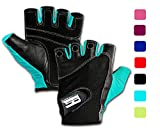 Workout Gloves for Women and Men, Non slip Leather Padded Weight...