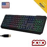KLIM Chroma Gaming Keyboard Wired USB + Durable, Ergonomic, Waterproof, Silent...