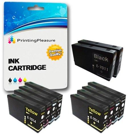 10 XXL Compatibili Cartucce d'inchiostro per Epson WorkForce Pro WP-4015DN WP-4025DW WP-4095DN WP-4515DN WP-4525DNF WP-4535DWF WP-4545DTWF WP-4595DNF - Nero/Ciano/Magenta/Giallo, Alta Capacità