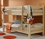 Avanti Trendstore Letto a castello in legno con scaletta montabile sia a destra che a sinistra. Scomponibile in 2 letti singoli. Il letto è anche bello da abbinare con altri mobili nello stesso materiale e stile (vedi p.e. articoli: B01LD9GCZ8 , B01L...